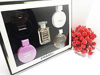 Подарочный набор парфюмов CHANEL (5 шт. по 5 мл) прозрачная коробка