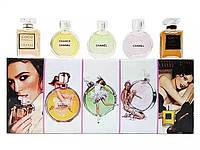 Подарочный набор парфюмов CHANEL (5 шт. по 5 мл) цветные флаконы