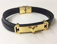 Мужской кожаный браслет Louis Vuitton