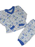 Пижама легкая для мальчика Мишки на ферме, хлопок, кулир, р.р.26-34