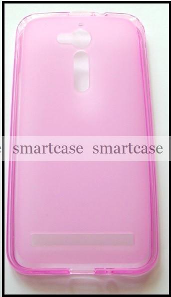 Мягкий розовый чехол Asus Zenfone GO ZB500KL ZB500KG X00AD бампер силиконовый