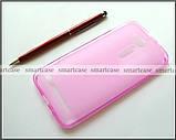 Мягкий розовый чехол Asus Zenfone GO ZB500KL ZB500KG X00AD бампер силиконовый, фото 2