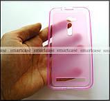 Мягкий розовый чехол Asus Zenfone GO ZB500KL ZB500KG X00AD бампер силиконовый, фото 4