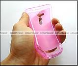Мягкий розовый чехол Asus Zenfone GO ZB500KL ZB500KG X00AD бампер силиконовый, фото 5