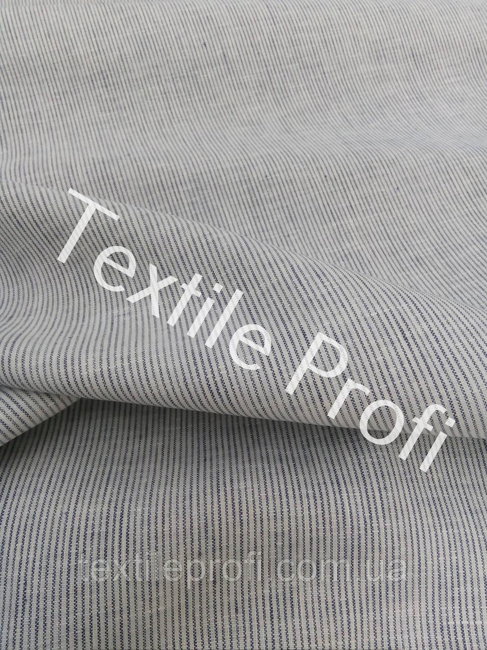 Льняная сорочечная ткань в мелкую полоску - Лён на любой фасон от ТЕКСТИЛЬ ПРОФИ Pro. в Одессе