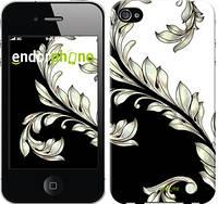 """Чехол на iPhone 4s White and black 1 """"2805c-12"""""""