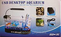 USB Аквариум-органайзер-часы-термометр (для живых рыбок)