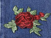 Нашивка Розы 3D красные 160x110 мм
