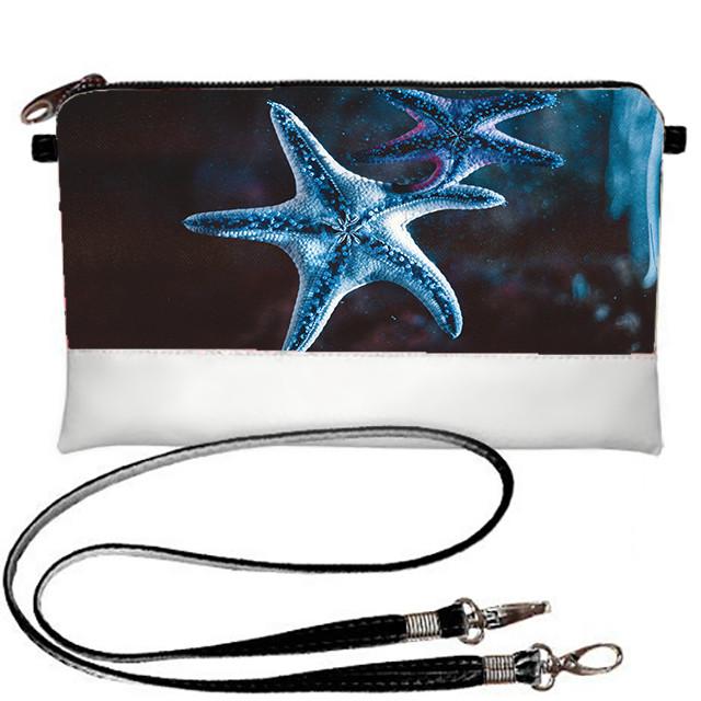 Белый молодежный клатч с принтом Морская звезда