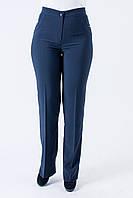 Классические женские брюки Гелена синего цвета