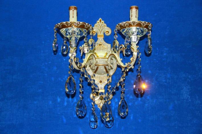 Бра настенная на две лампочки cвечи  (ВЛ) B77006/2 (GWT), фото 2