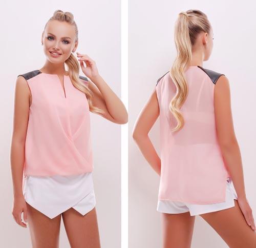 0572331f06a Повседневная блузка без рукавов розовая купить в интернет магазине ...