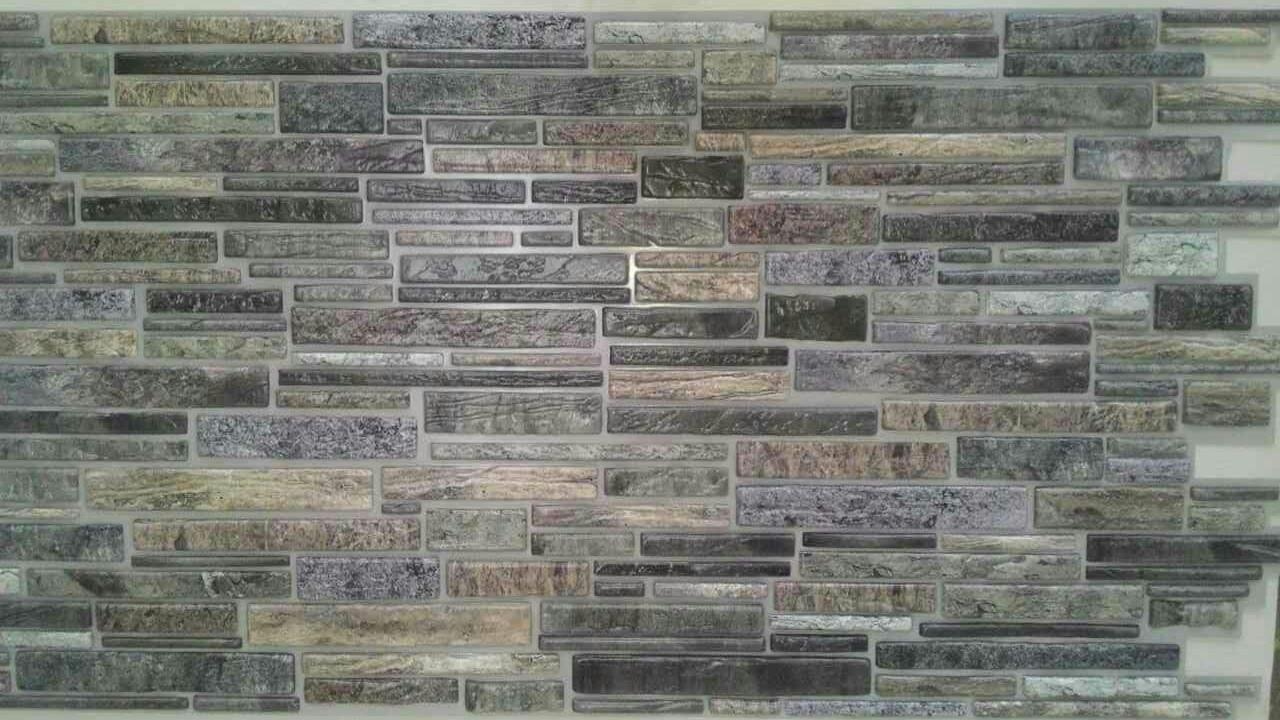 Декоративна пластикова листова панель ПВХ Регул Пластушка сіра 0,4мм 977*496 мм