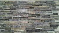 """Панелі ПВХ цеглинки """"Пластушка сіра"""" 0,4мм (977*496 мм)"""