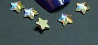 Камень голограммный звездочка для дизайна ногтей 5 шт стекло на золотой подложке