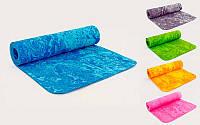 Коврик для фитнеса и йоги Multicolor 4936, 5 цветов: толщина 8мм, размер 1,83х0,61м
