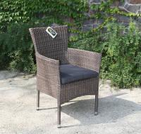 Кресло Капри из искусственного ротанга песочно-коричневое