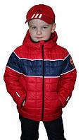 """Детская демисезонная курточка для мальчика """"Зара"""", красный, 92-122 рост"""