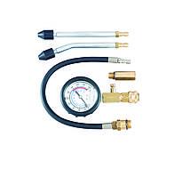 Компрессометр бензиновый, 0-300 psi, 0-20 бар, шланг 350 мм, насадки 14 мм, 18 мм, 2 удлинителя, Force