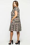 Женское прямое платье Яна цвет оливка размер 52,54,56  / больших размеров , фото 2