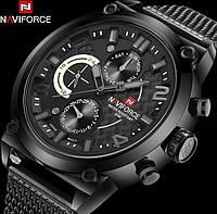 Мужские часы Naviforce Brutto Black (№ 9068) , Гарантия 6 мес./ Чоловічий наручний годинник
