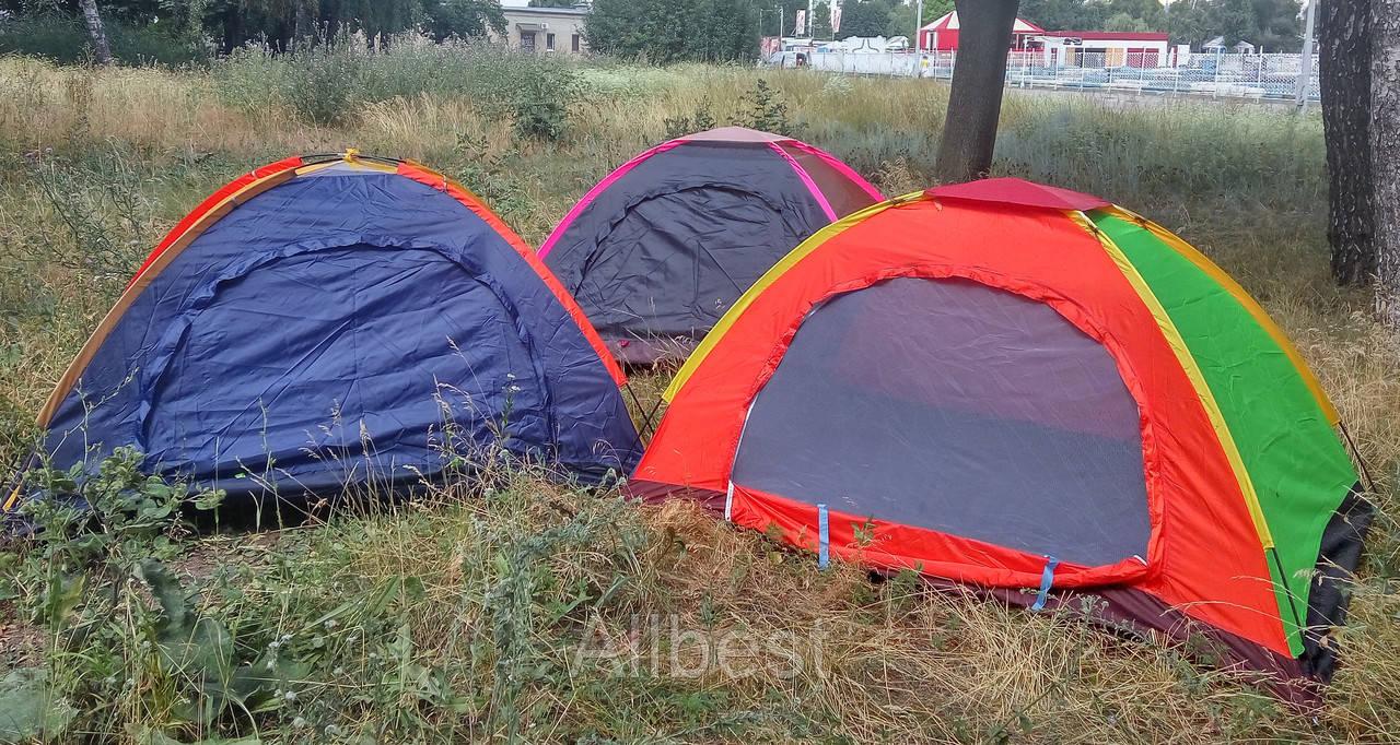 Палатка туристическая. Удобная большая (легкая) палатка для туризма, кемпинга, отдыха на природе.