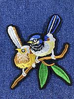 Нашивка Птицы на ветке 91х98 мм