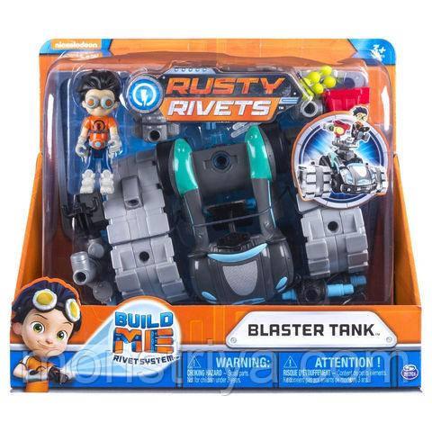 Расти механик игрушка Бластерный танк игровой набор Rusty Rivets , Spin Master