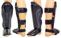 Защита для голени и стопы Муай Тай, ММА, Кикбоксинг FLEX VENUM ELITE NEO  (р-р M-XL, черный)
