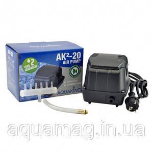 Аэратор AquaKing AK²-20, мембранный компрессор, аэратор для пруда, водоема, септика, УЗВ