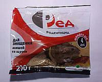 Средство для уничтожения крыс и мышей Ред тесто 200 г