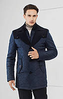 Мужская стеганая куртка полуприлегающего силуэта сусиленным утеплением.