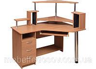 Стол компьютерный Орфей с надставкой угловой  (Пехотин) 1200х750(1330)х880мм