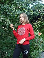 Спортивный костюм женский без молнии брюки красный Roberto Cavalli