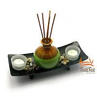 Японски декор с вазой и подсвечниками