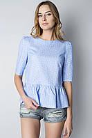 Блуза-распашонка с воланами Т152