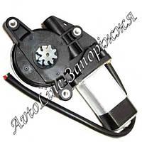 Двигатель электрического реечного стеклоподъемника Гранат: 8 зубъев черная оплетка проводов, фото 1