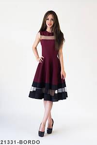 Женское платье Подіум Stefani 21331-BORDO XS Бордовый