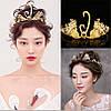 Тиара диадема АМИНА корона модная красивая модные украшения для волос тиары, фото 6