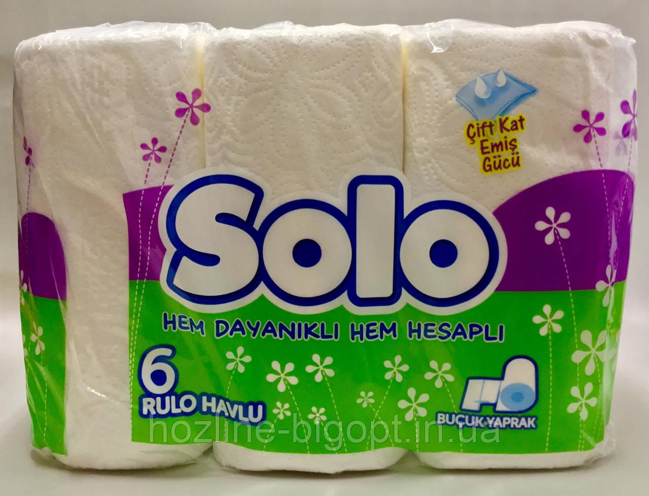 Паперові рушники SOLO Max roll 6 шт.