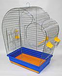 Клетка для попугая цинк Патриот 56х31х69, фото 3