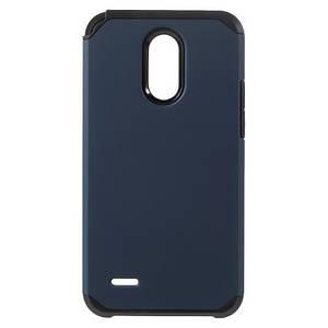Чехол накладка для LG Stylus 3 M400DY противоударный силиконовый с пластиком, темно-синий