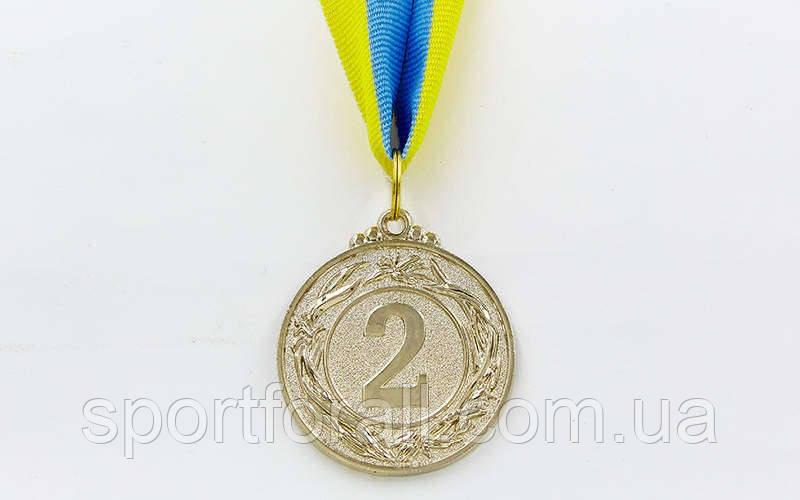 Медаль спортивная с лентой GLORY d-5см C-3969-2