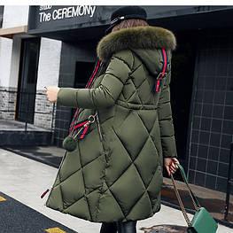 Женский  зимний пуховик с мехом. Модель 6365.