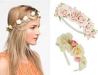 Украшения на голову с цветами