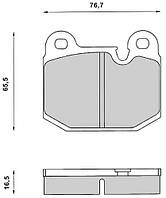 DBB 014.00 Тормозные колодки (передние) Opel Kadett, Ascona, ALFA, BMW 60778470, 1605321