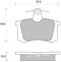 DBB 135.00 Тормозные колодки (задние) AUDI 4AO698451, ALFA ROMEO 9945750