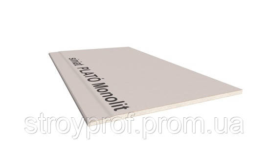 Гипсокартон усиленный PLATO Monolit 12,5х1200х2500мм, фото 2