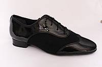 Туфли мужской стандарт 92105 (лак +нубук)