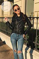 Черная кожаная куртка Zara